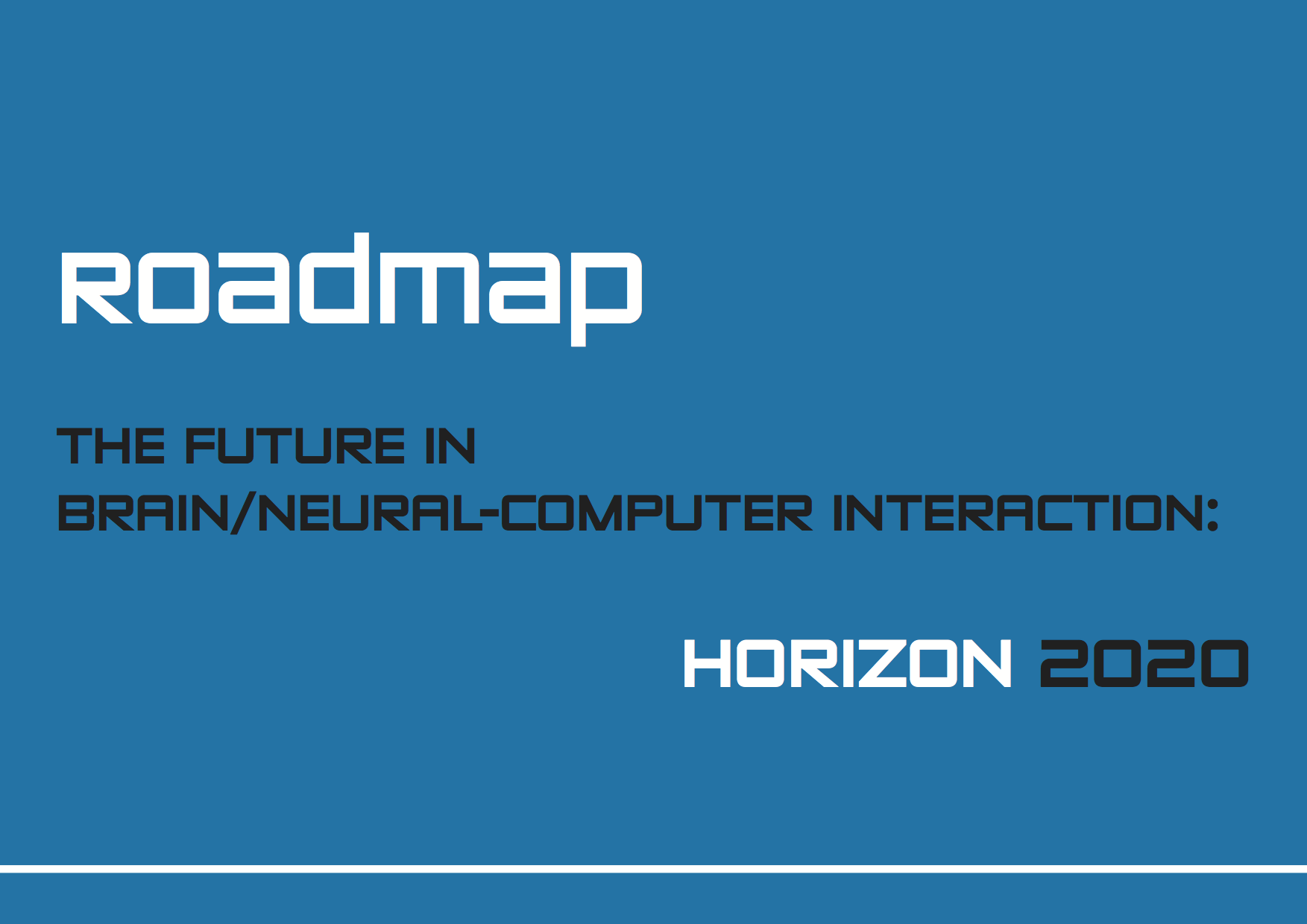 Roadmap BNCI Horizon 2020 Frontpage